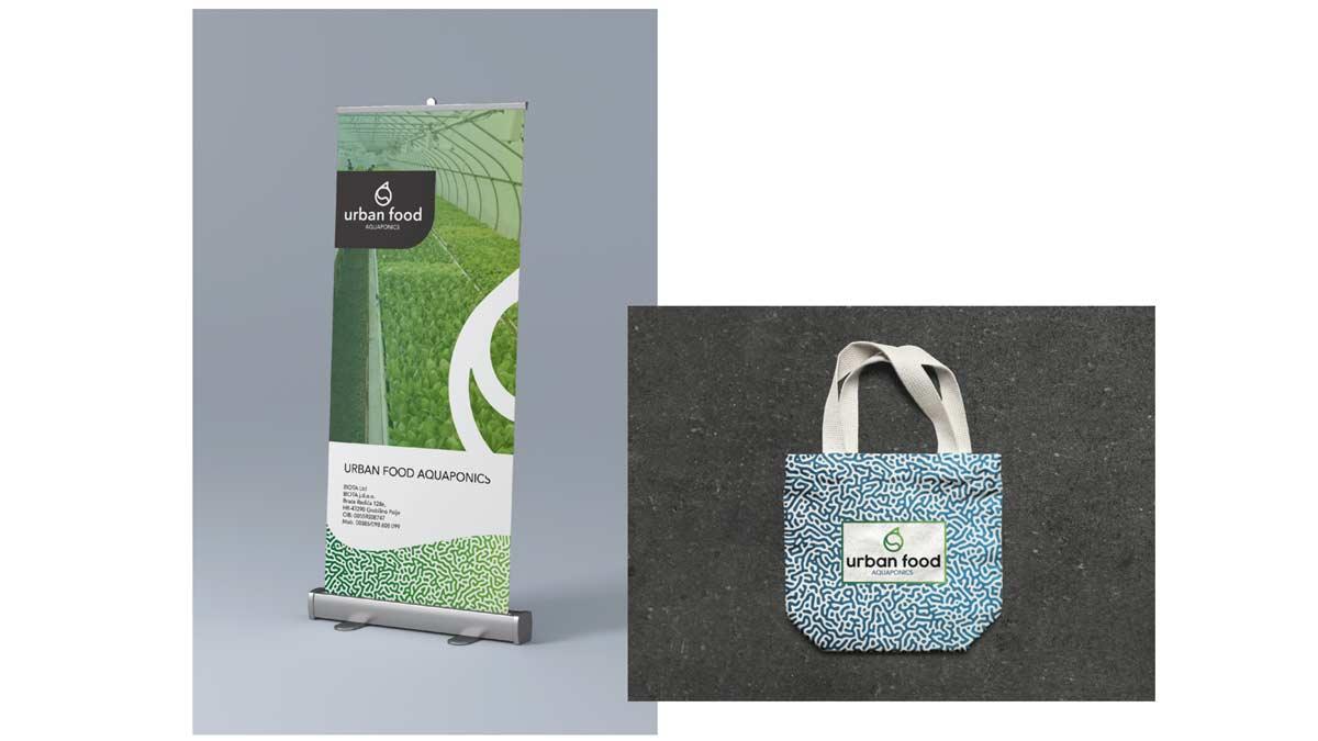 biota urban food logo rollup bag